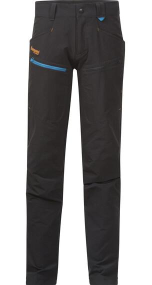 Bergans Youth Utne Pant Solid Charcoal/Br Sea Blue/Pumpkin